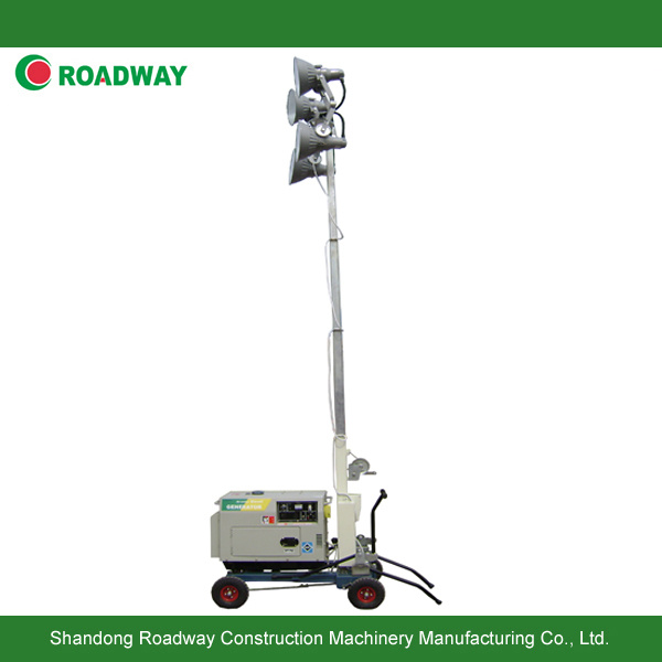 Hand Push Mobile Light Tower