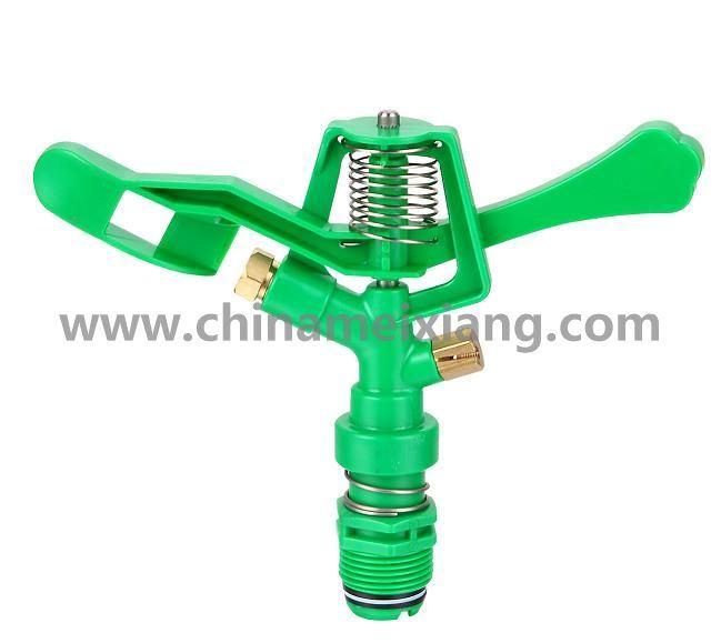 G3/4′′full Circle Gardens Plastic Impulse Sprinkler Agriculture Irrigation Sprinkler (Double Brass nozzles) (MX9501)