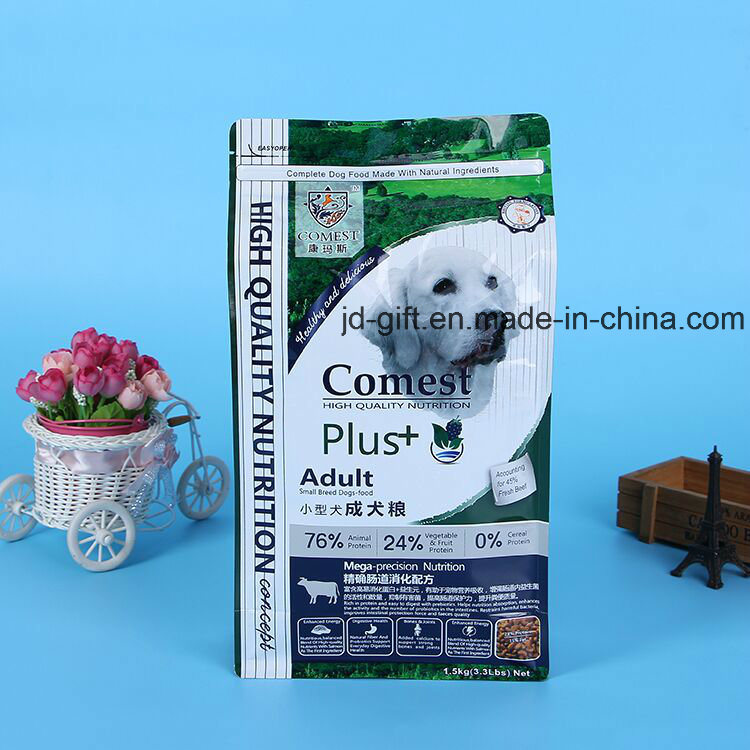 Customized Printing Food Packaging Side Gusset Flat Bottom Bag