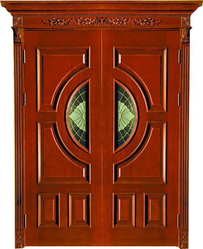 Solid Wooden Door with New Design, Entrance Door, Classic Wooden Door