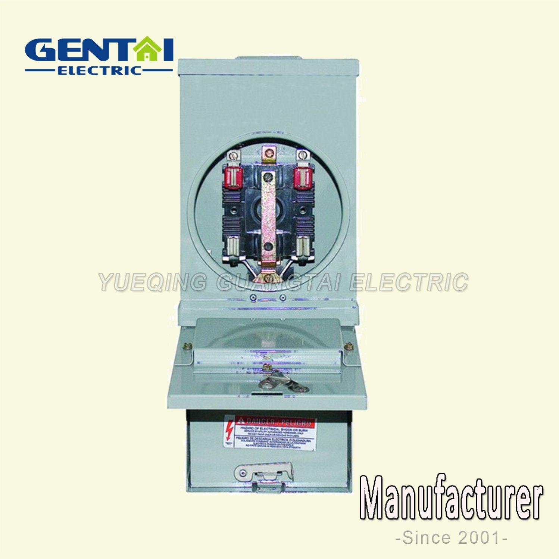 Ring Type Gtfp 200A 7 Jaw Rectangular Meter Socket