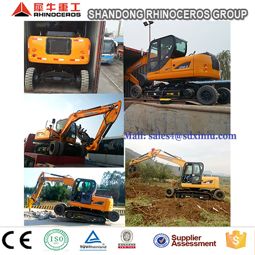 New 8 Ton Wheel Crawler Excavator Price with Ce&ISO