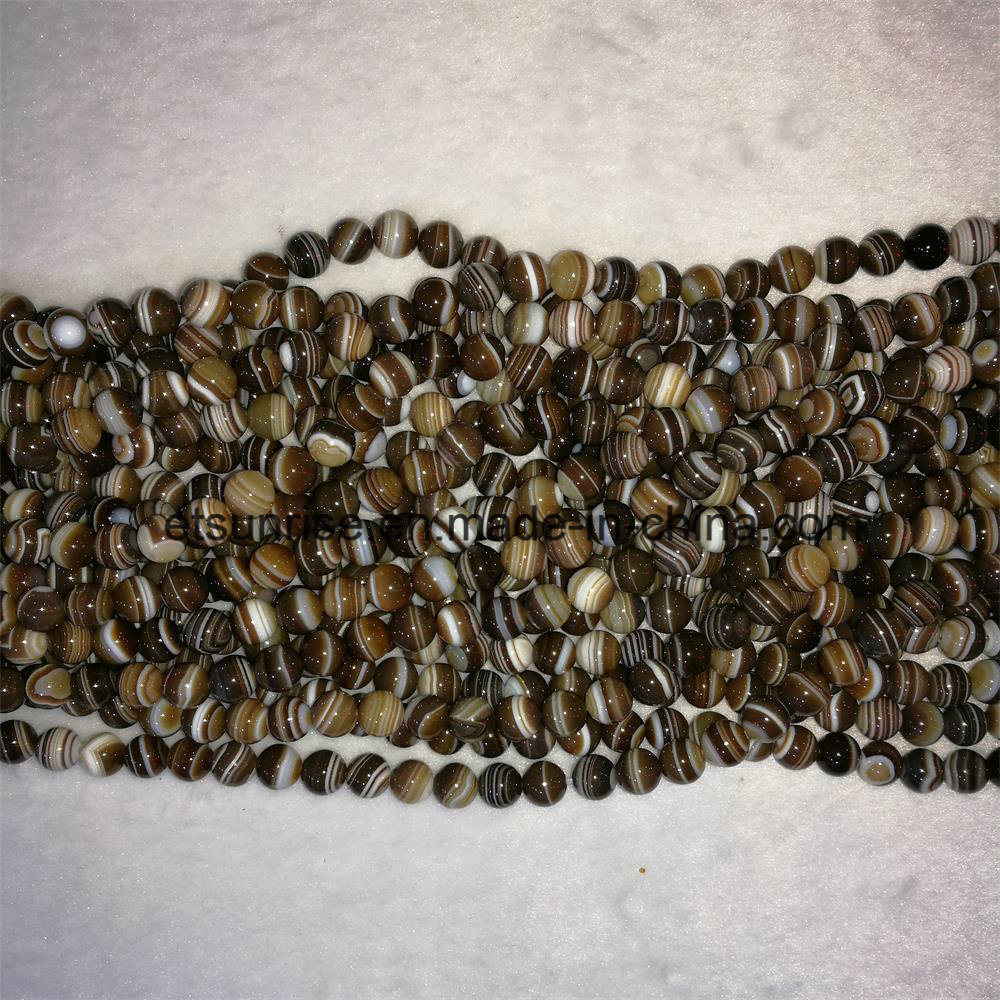 Natural Crystal Beaded Striped Agate Beaded Loose Bead
