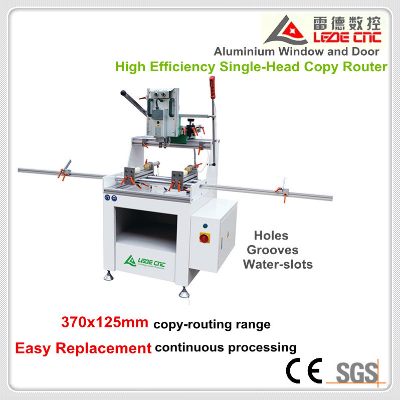 Aluminum Window Machine High Effeciency Single-Head Copy Router 370X125