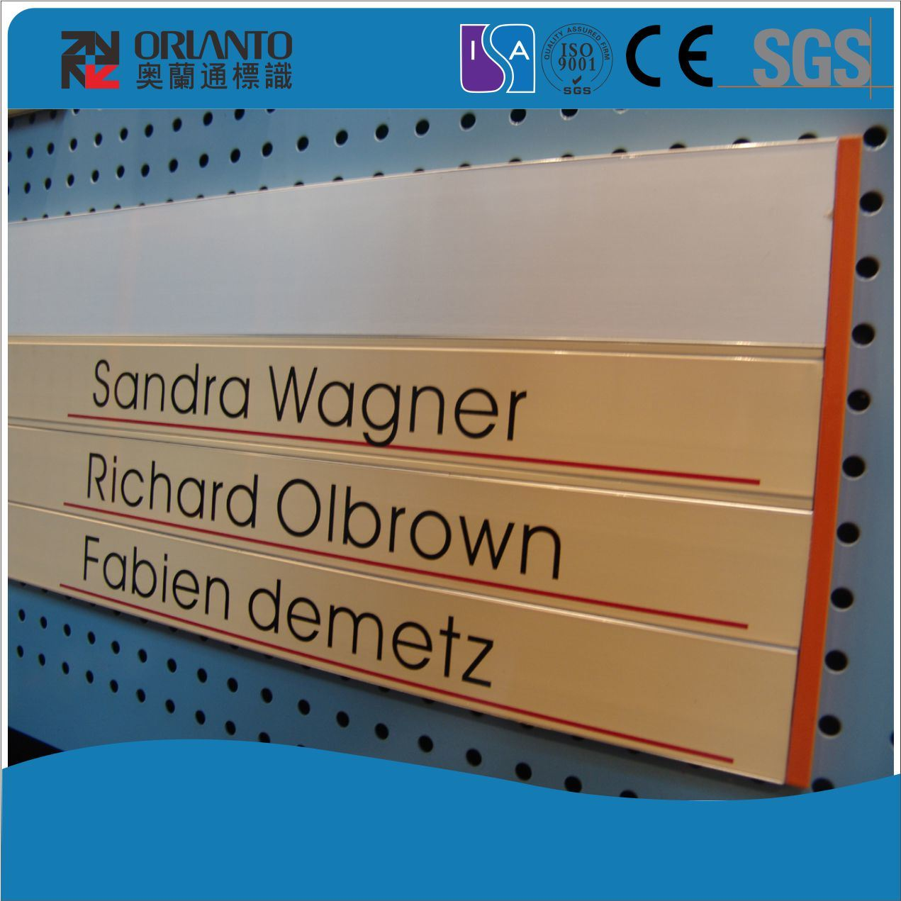 Aluminium Screen Printing Indoor Flat Sign