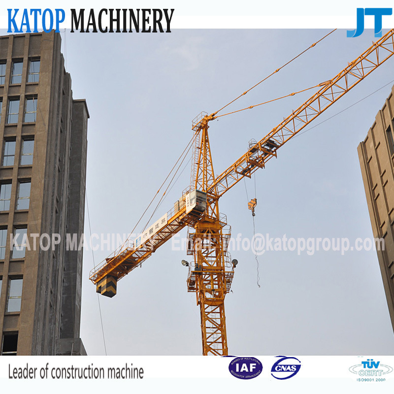 Qtz80 Series Tc5610 Double Gyration 6t Load Tower Crane