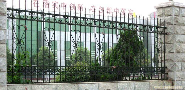 Anti-Climbing Galvanized Wrought Iron Fence