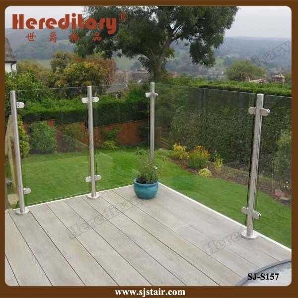 Wall Mounted Frameless Glass Railing for Balcony Railing (SJ-H1471)