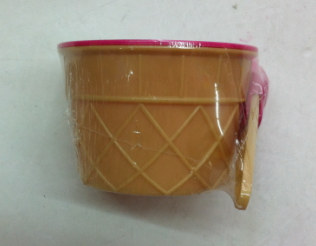 Ice Cream Cup Plastic Cup with Spoon