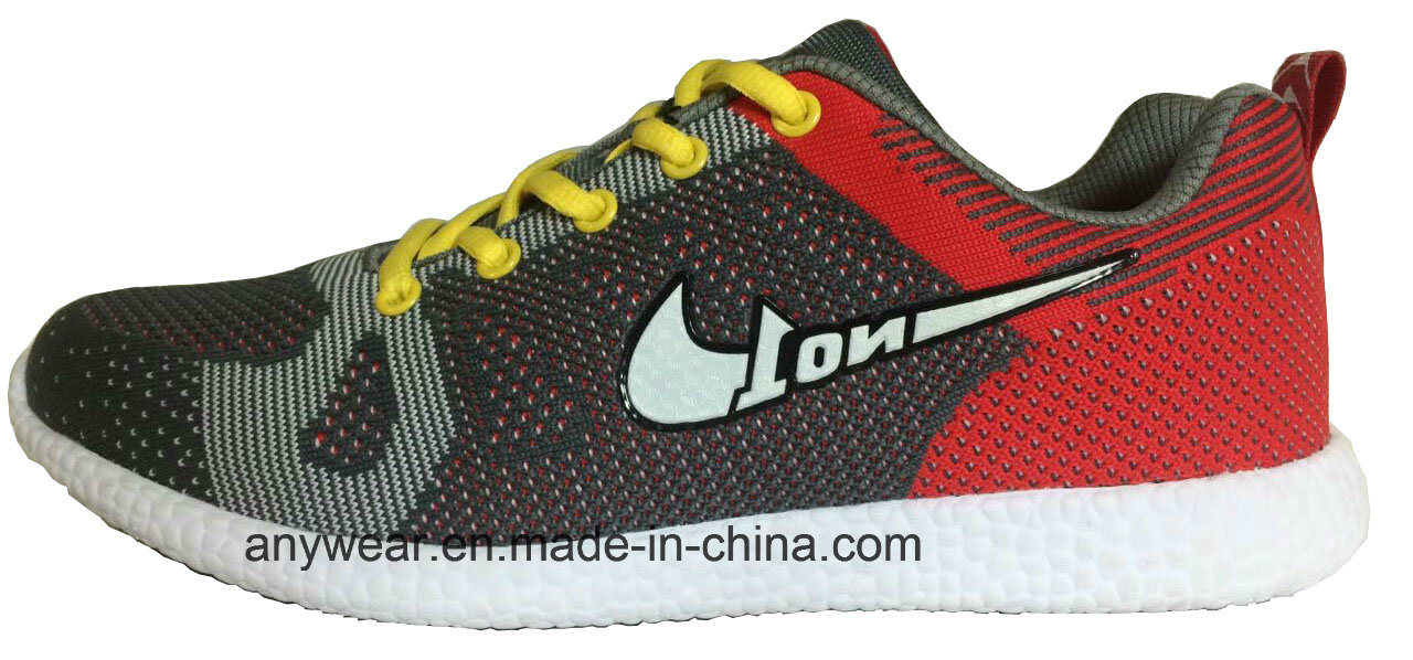 Athletic Men Footwear Flyknit Gym Sports Shoes (815-5687)