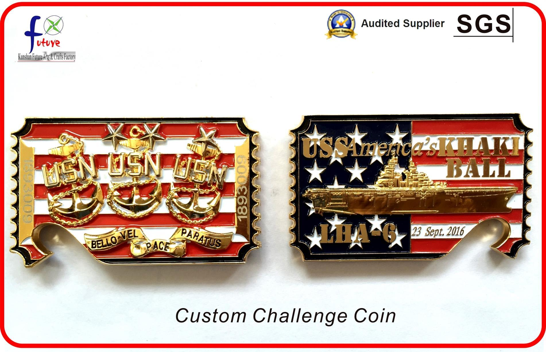 Custom Challenge Coin Usn Coin