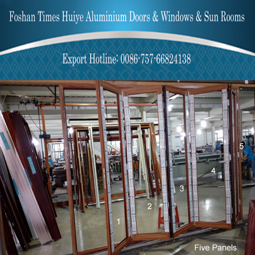 2 Panels to 8 Panels Aluminium Folding Door with Colour