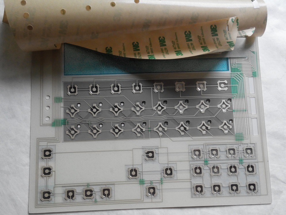 Keyboard Pet Printing Circuit Membrane Switch with Metal Domes