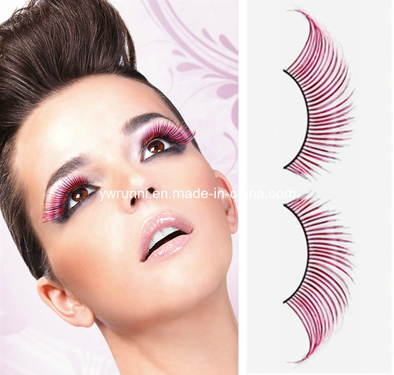 China Light Pink Feather Eyelashes Elegant Modern Party Makeup Accessories - China Pink Feather ...