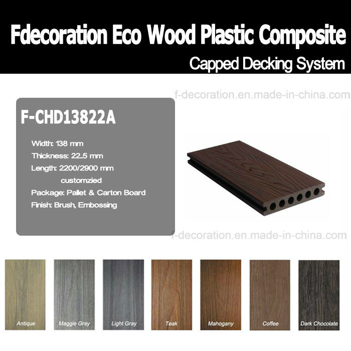 Capped Outdoor Decking Composite WPC Flooring