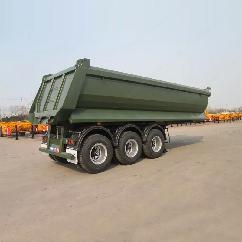 60ton 3axles Tipper Trailer Tractor Dump Trailer for Sale