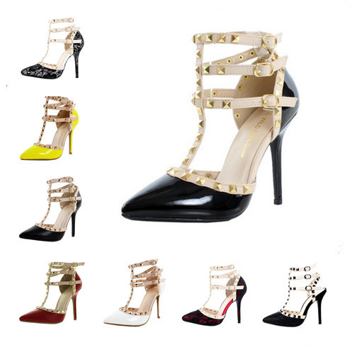 2016 New Style Fashion High Heel Ladies Dress Shoes (HCY02-1705)