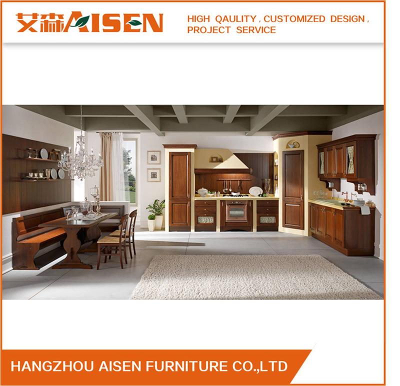 Kitchen Furniture Luxury Solid Wood Kitchen Cabinet Assw032