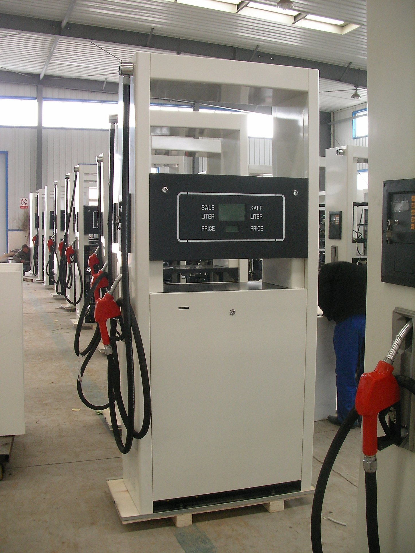 Two Nozzle Two Pump Oil Station Fuel Dispenser