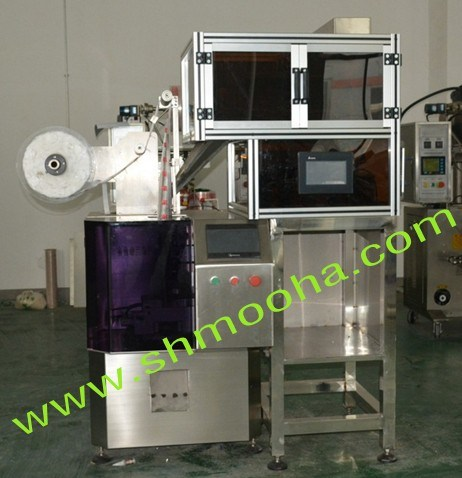 Triangle Tea Packing Machine 4 Heads Electric Scale