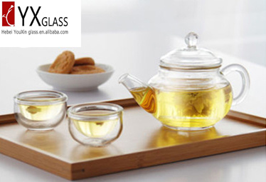 Fashion Design 250ml Glass Teapot with Glass Infuser Glass Cap/Glass Tea Maker /Glass Tea Kettle