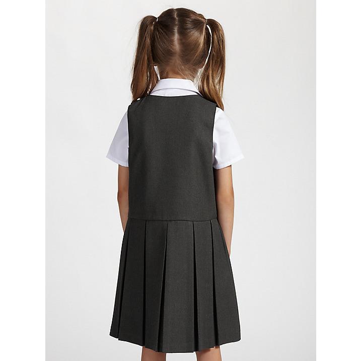 Custom Classic Plain Striped Grid School Uniform Dress for Grils