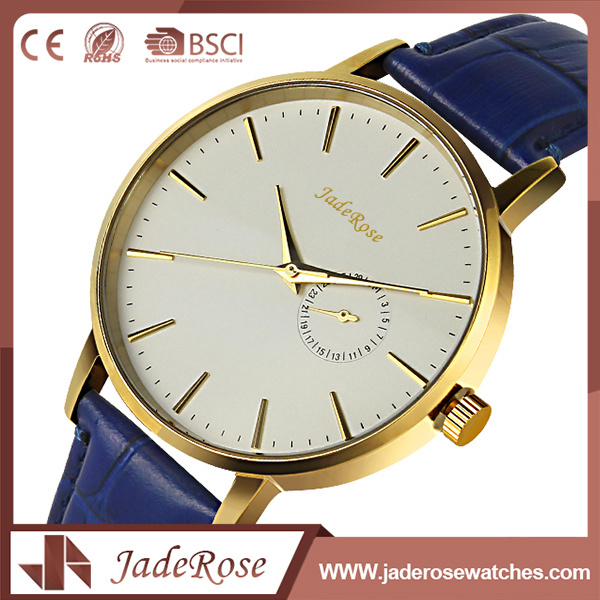 Custom Fashion Vintage Unisex Leather Quartz Watches