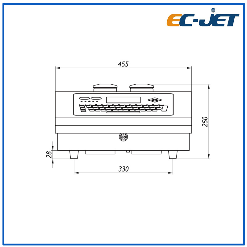 Small Character 1-4 Lines Cij Batch Number Automatic Industrial Inkjet Printer