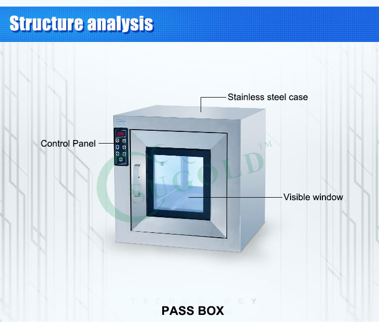 Factory Direct Sales Stainless Steel Clean Passbox