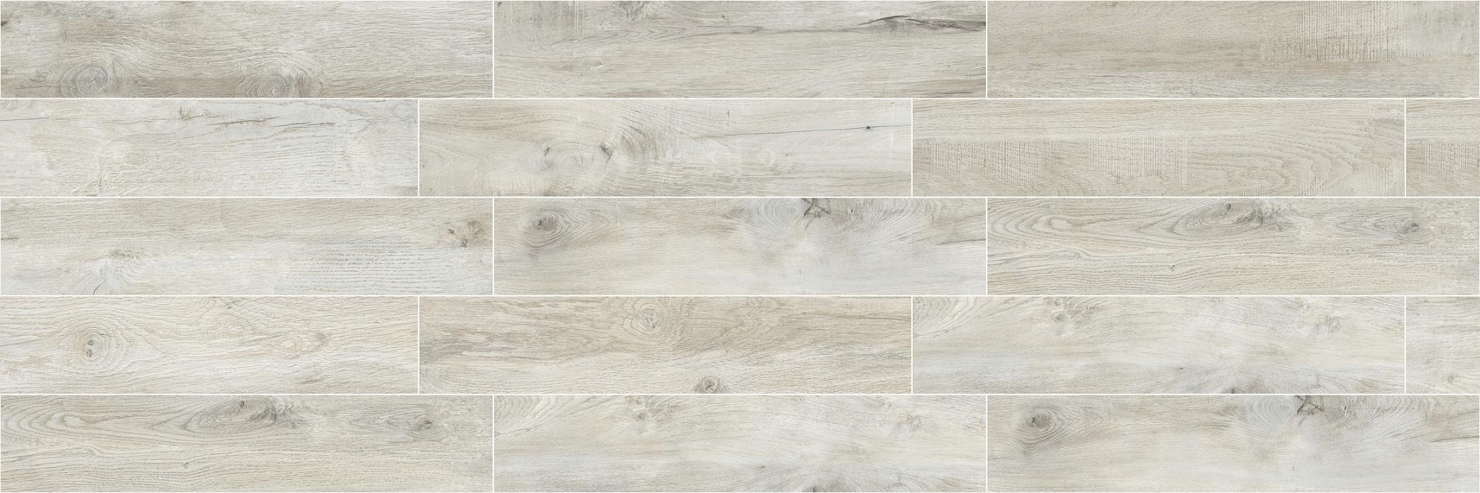 High Quality Building Material Porcelain Wood Tile Floor Tile Lnc2012020 Yellow/Grey