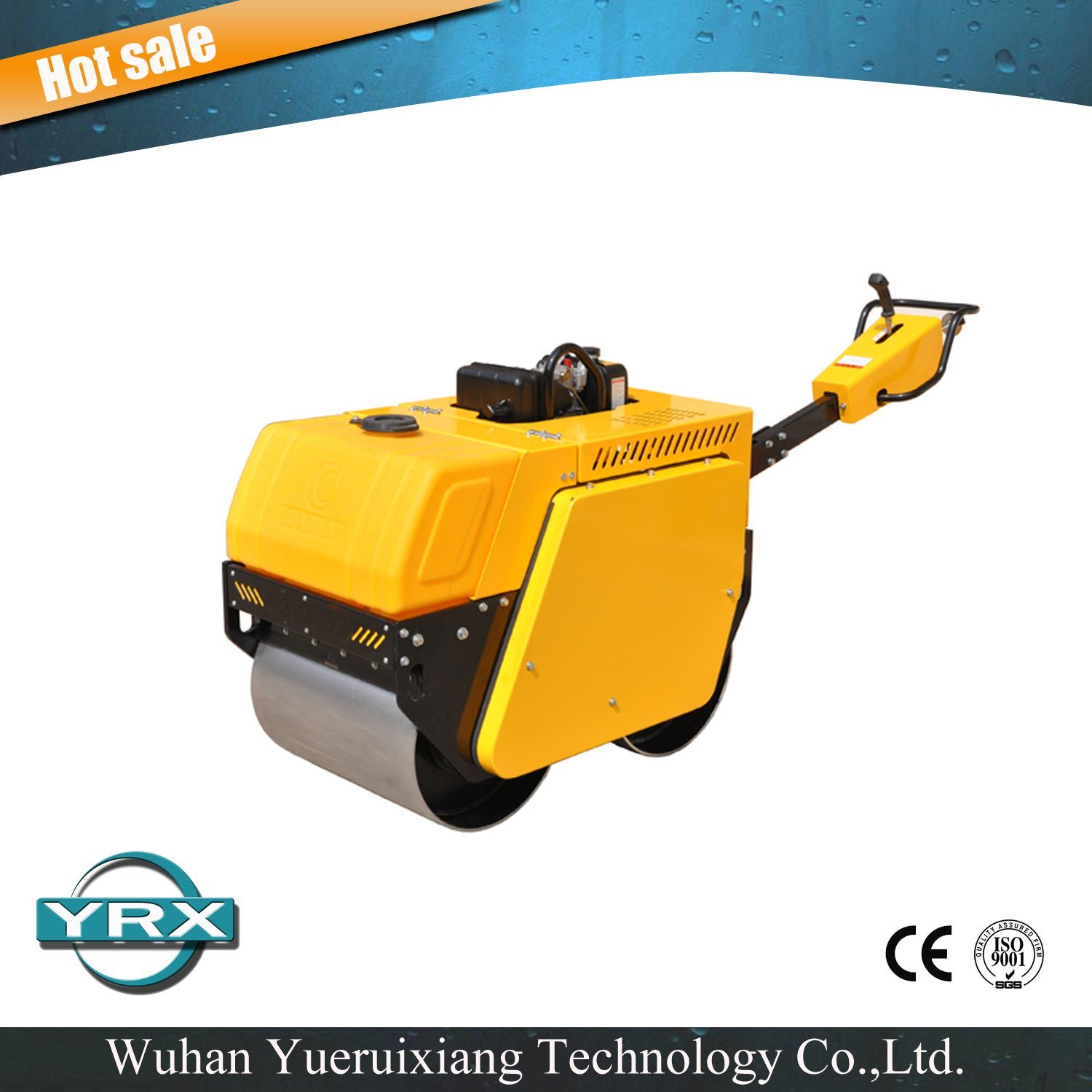 Ce Approved 583kg Double Drum Road Roller with Kipor Diesel Engine