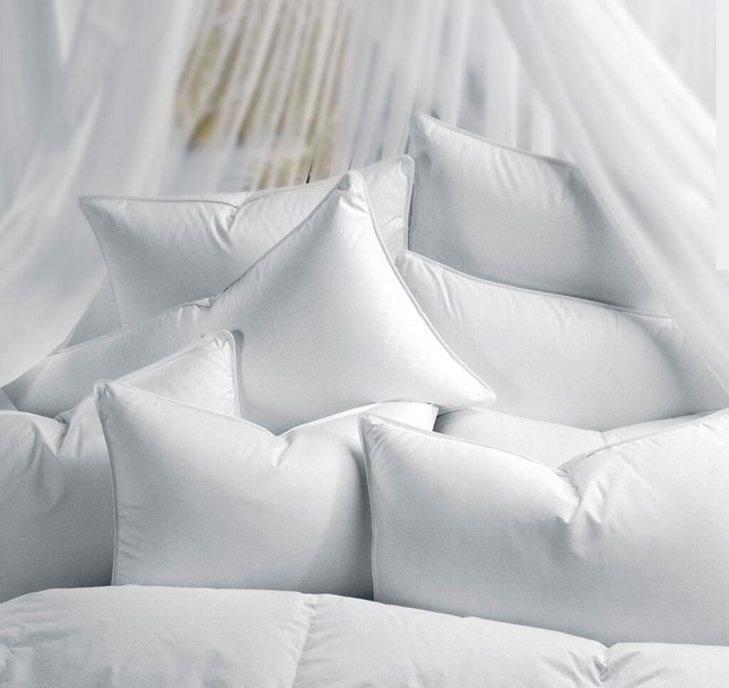 Home Textile White Goose Down Bed Sleeping Pillow