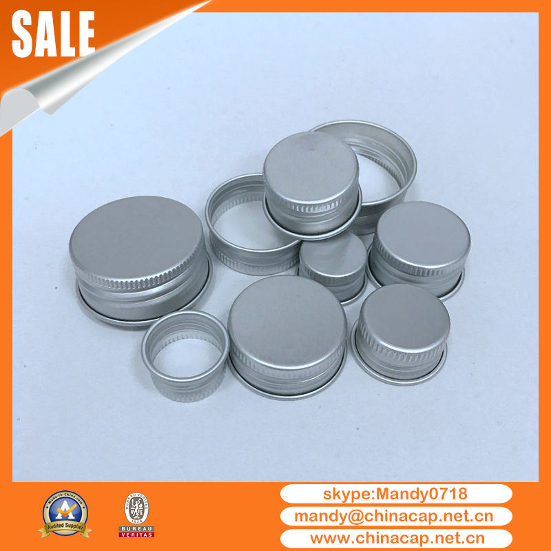 Honey Candy Jar Matte Silver Aluminum Screw Cap