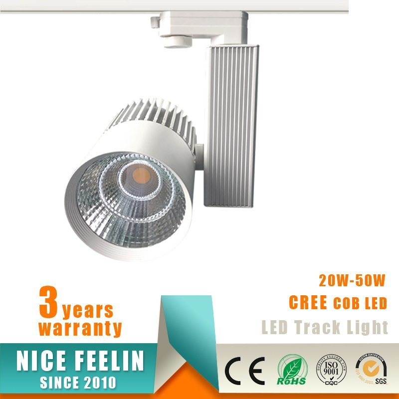 30W CREE COB LED Track Light for Commercial Lighting
