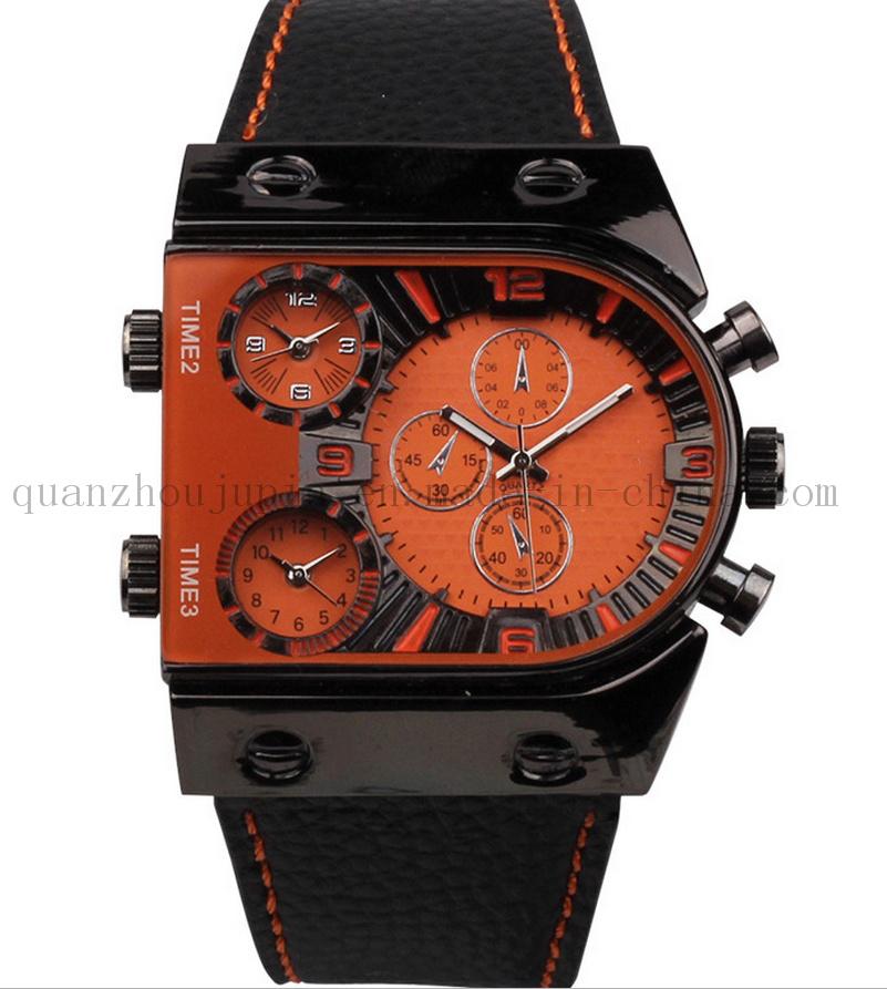 OEM Polyclock Metal Quartz Watch with Flocking Bracelet