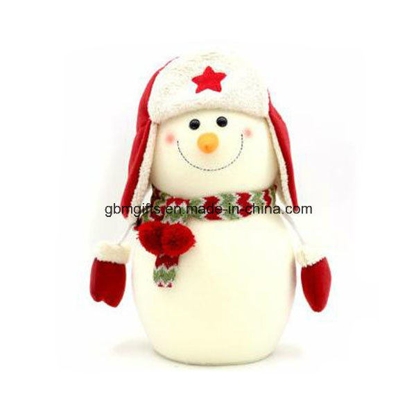 Santa Claus and Snowman Felt Christmas Home Decoration as Gifts