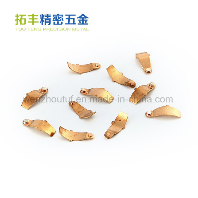 Nickel-Plated Electrical Metal Stamping Parts Various Color Accepted