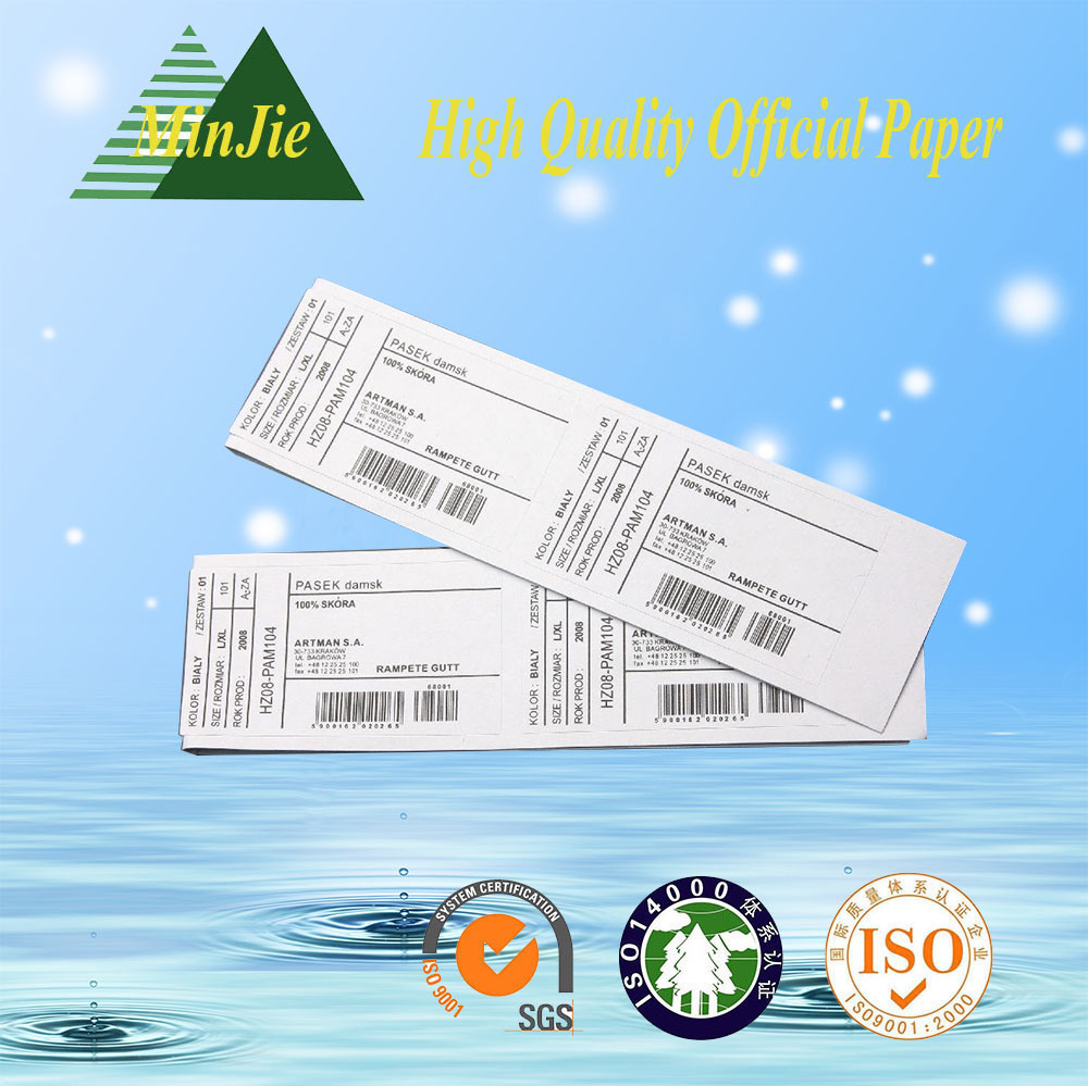 Adhesive Sticker Type and Paper, Art Paper Material Shipping Usage Code Bar Label