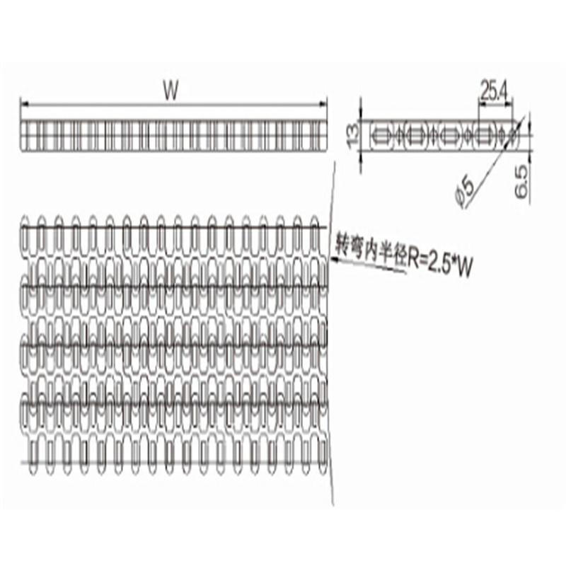 Modular Belts Sideflexing (WZ-2540T)