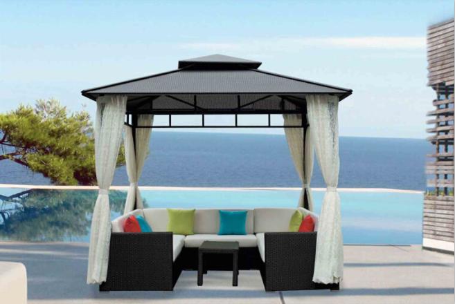 Outdoor Leisure Rattan Villa Garden Gazebo Pavilion