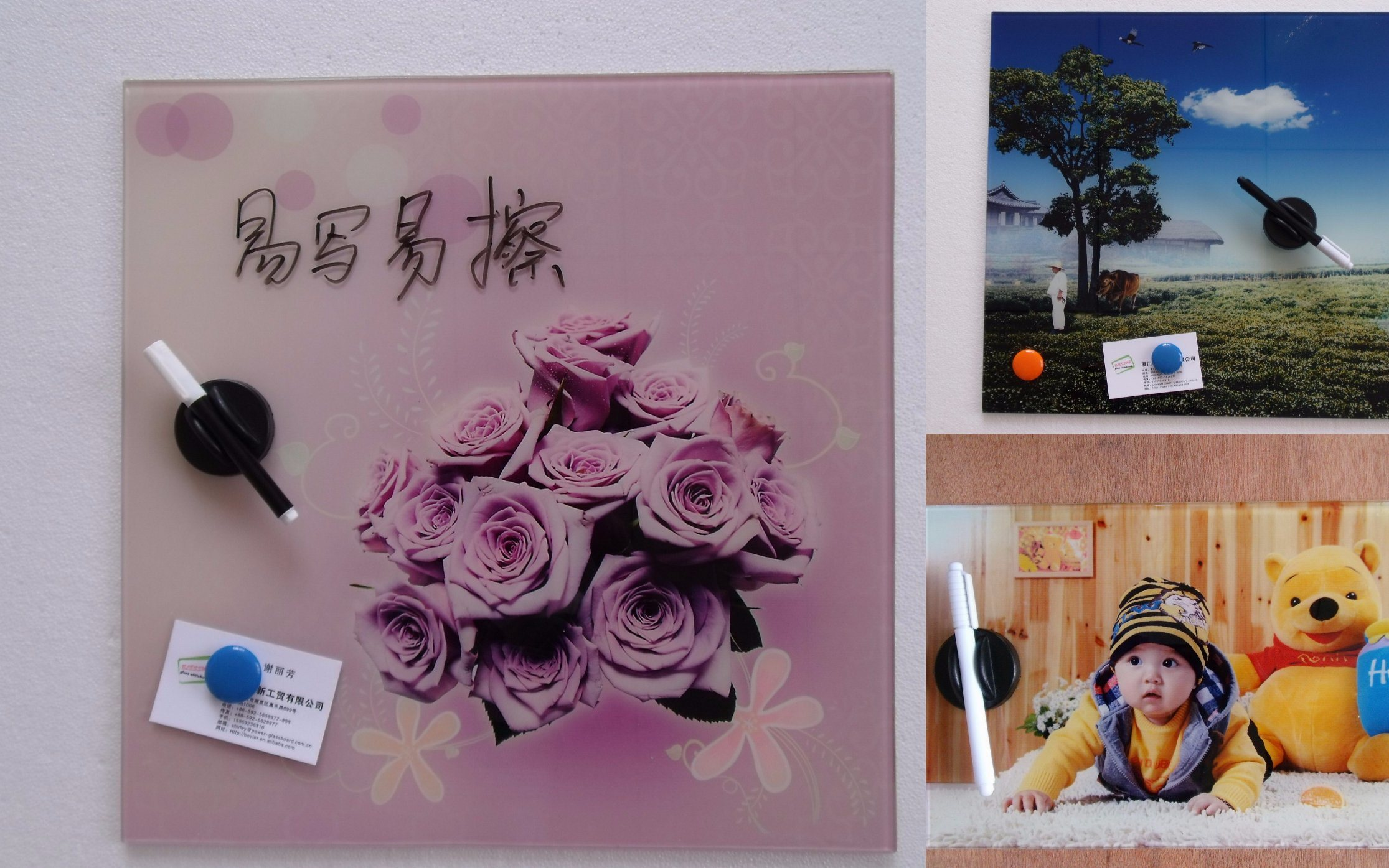Writable Magnetic Glass Photo Frame for Home /Office Decoration with En71/72/73