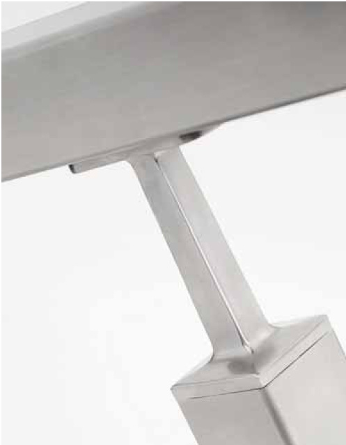 Square Stainless Steel Railing Balustrade / Stair Parts