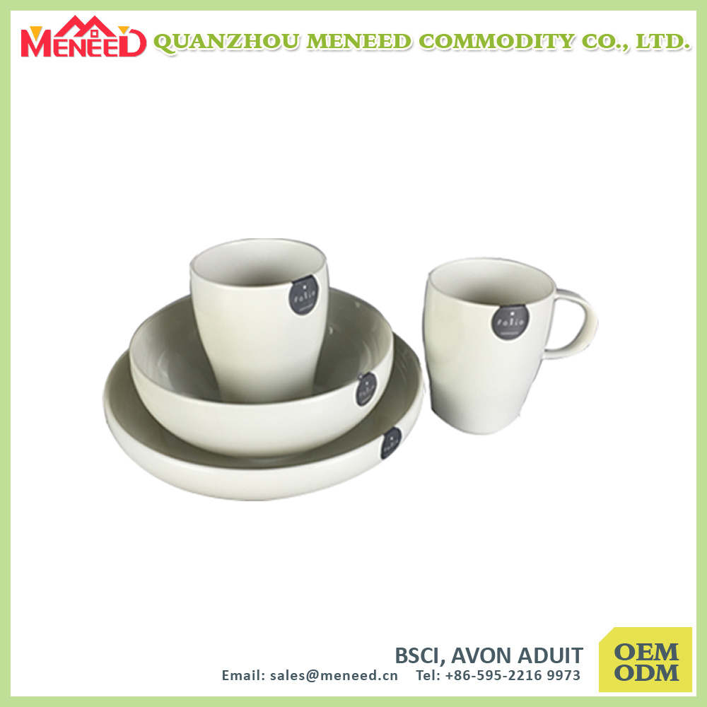 Custom Logo Print Solid Color Melamine Tableware