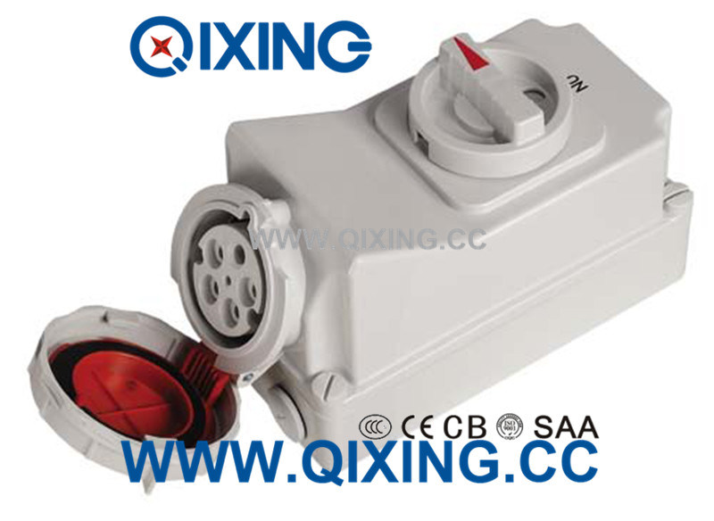 32A 3p Electric Waterproof Interlocked Receptacle Switch