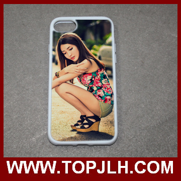 Sublimation 2D Silicone Cell Phone Cover for iPhone 7/7 Plus TPU Case