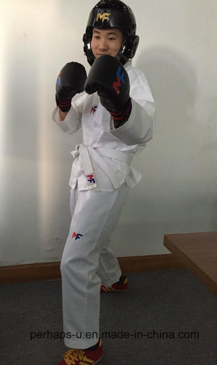 High-End Students Taekwondo Uniforms with Custom Embroidery Logo