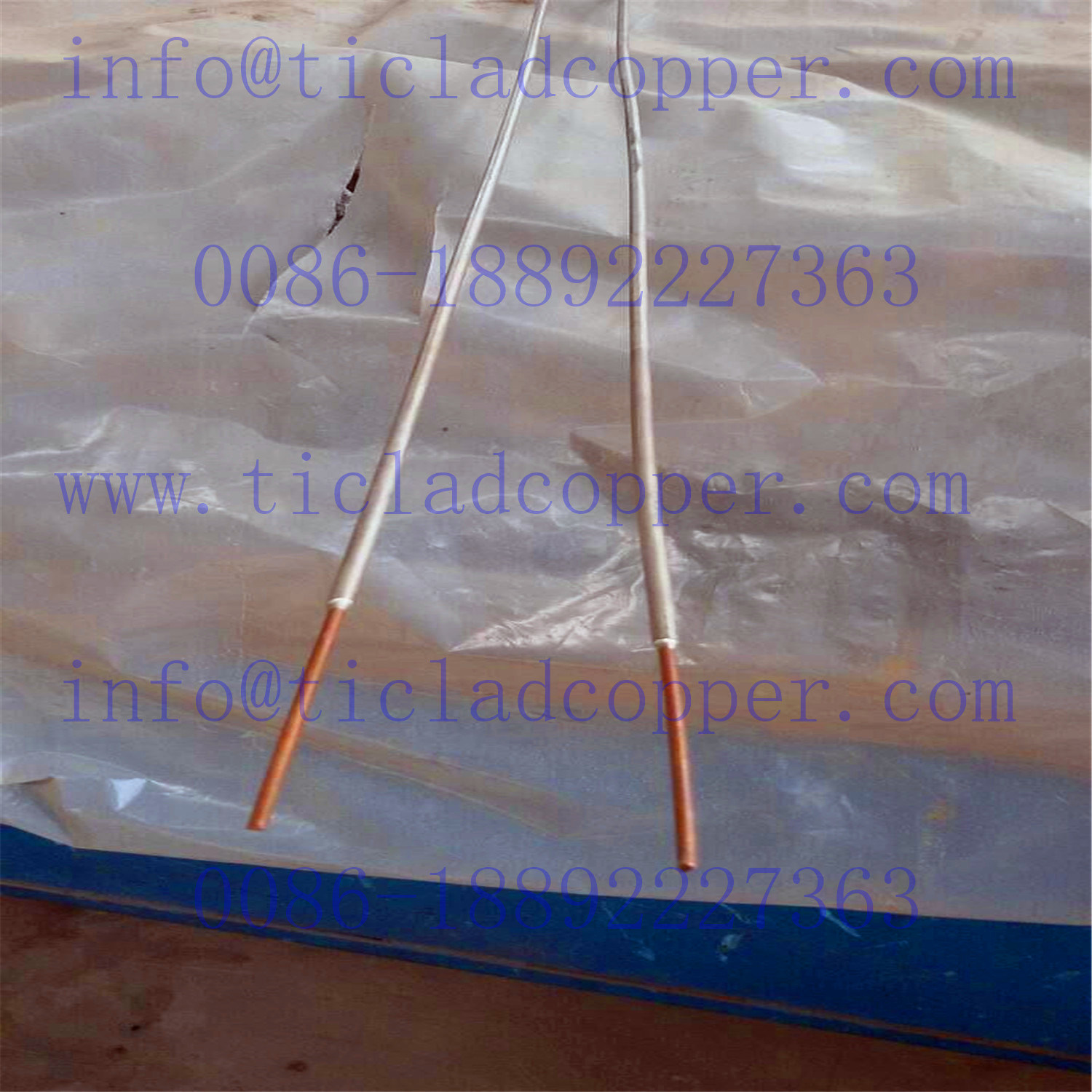 Dsa Titanium Clad Copper Wire/Rod Anode for Chloro-Alkali Industry