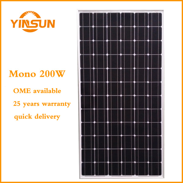 200W PV Renewable Energy Power Solar Module Solar Panel
