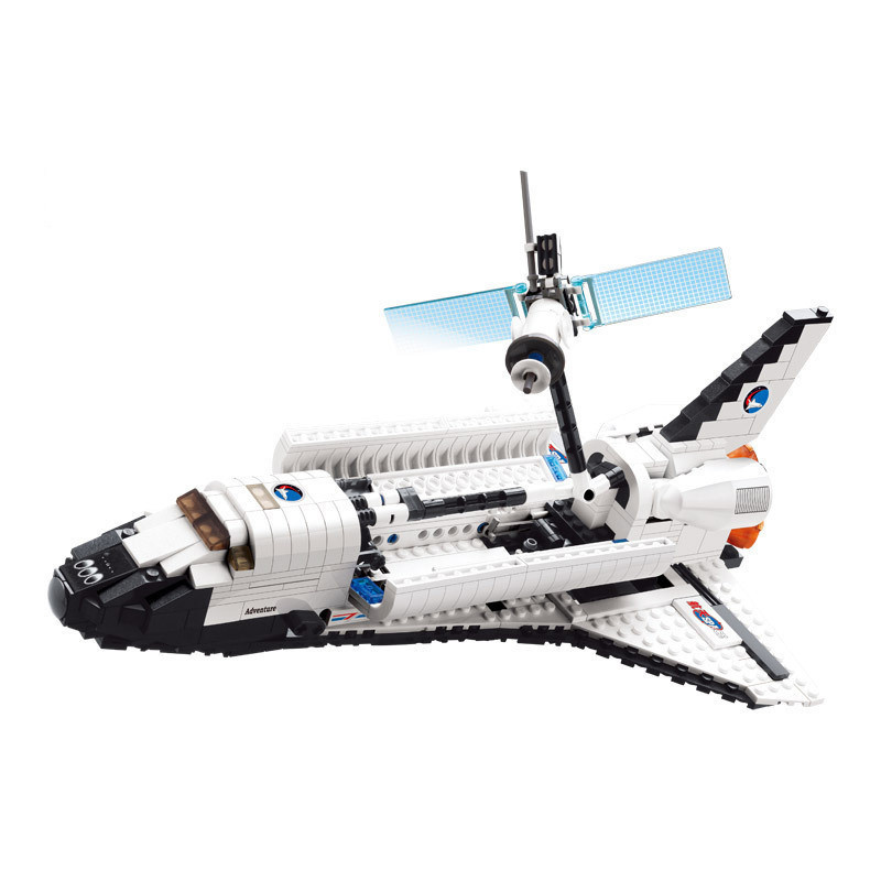 14883004-Space Series Space Shuttle 630PCS Building Block Boys Bricks Toy Christmas Gift