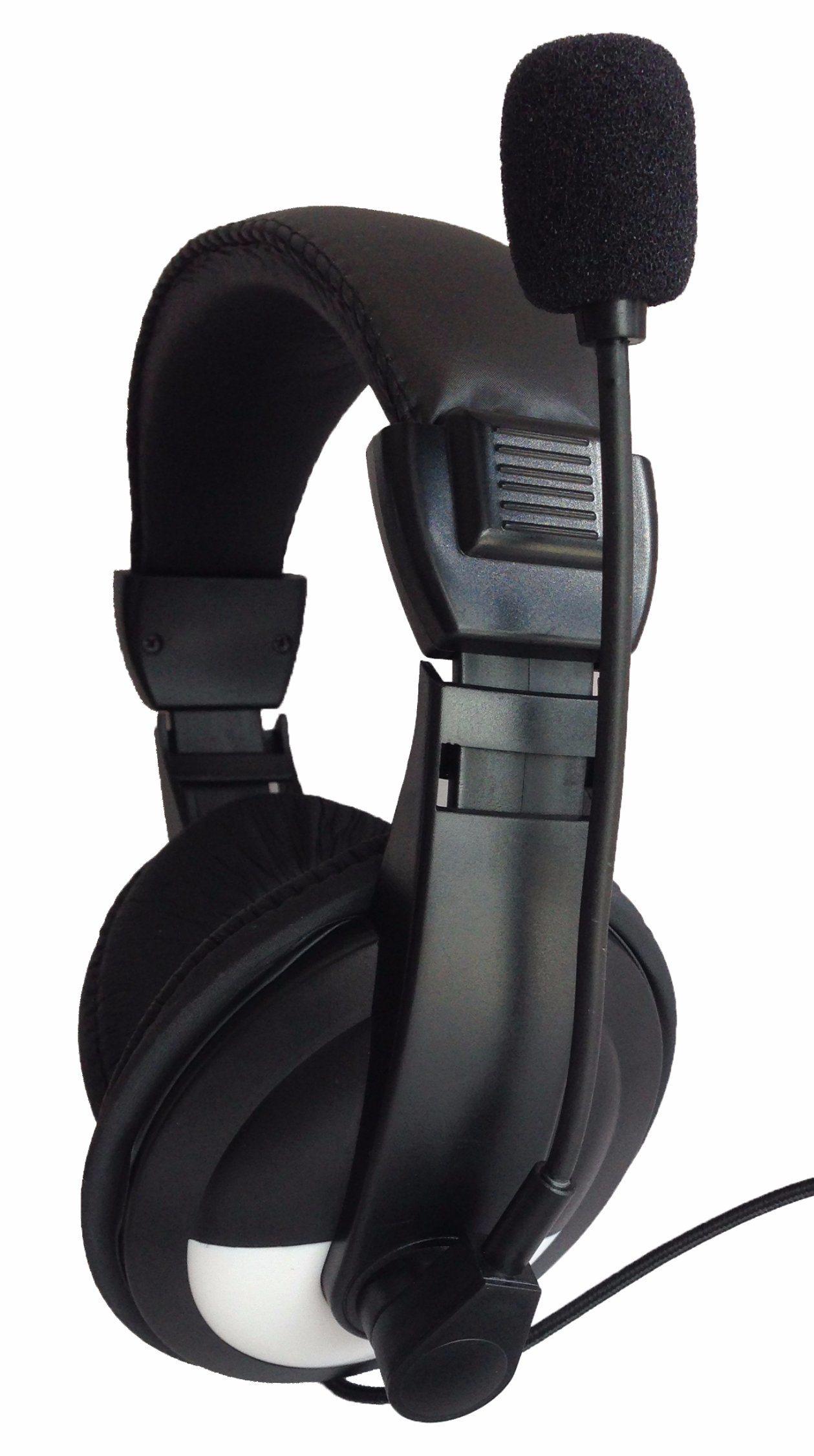 Headphones with Microphone for Smartphones MP3/4 Laptop Computers Tab Let MacBook Folding Gaming Earphones